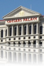 Caesars Palace over Lake Bellagio