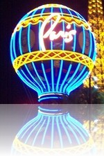 Paris Las Vegas Balloon at night