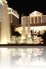 Caesars Palace Fountains at Night