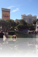Caesars Palace with The Mirage Sign