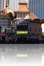 Casino Royale Las Vegas next to McDonalds and Harrahs