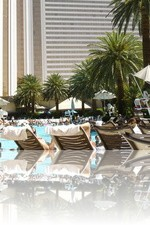 The Mirage Pool in August is HOT
