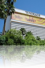 The Mirage Casino from the pool