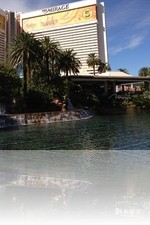 The Mirage Volcano during the Daytime