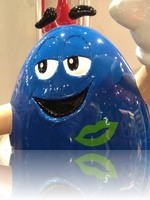Blue M&M at the M and M Facotry