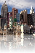 NY NY las Vegas during the daytime from the Tropicana