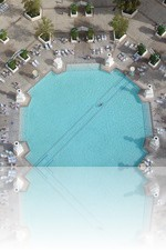 Paris Pool from the Eiffel Tower in Vegas